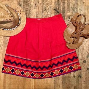 Pomelo red a-line skirt